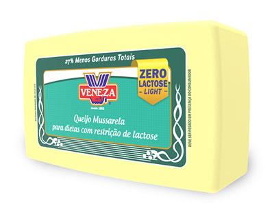 Queijo Mussarela Zero lactose (400g)